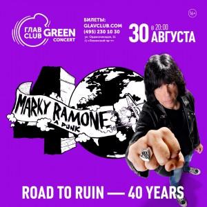 Marky Ramone. Road To Ruin - 40 Years